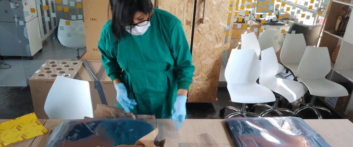 ENGIE se suma a la fabricación digital de caretas de protección facial de la Universidad ESAN