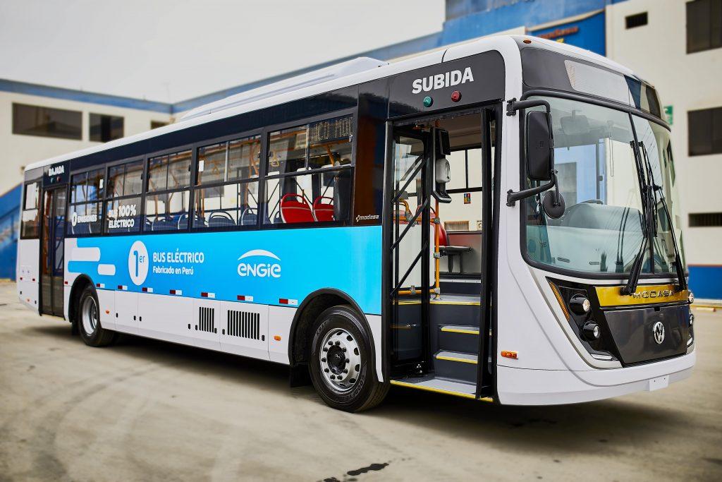 """ENGIE y MODASA lanzan el primer bus 100% eléctrico """"made in Perú"""""""
