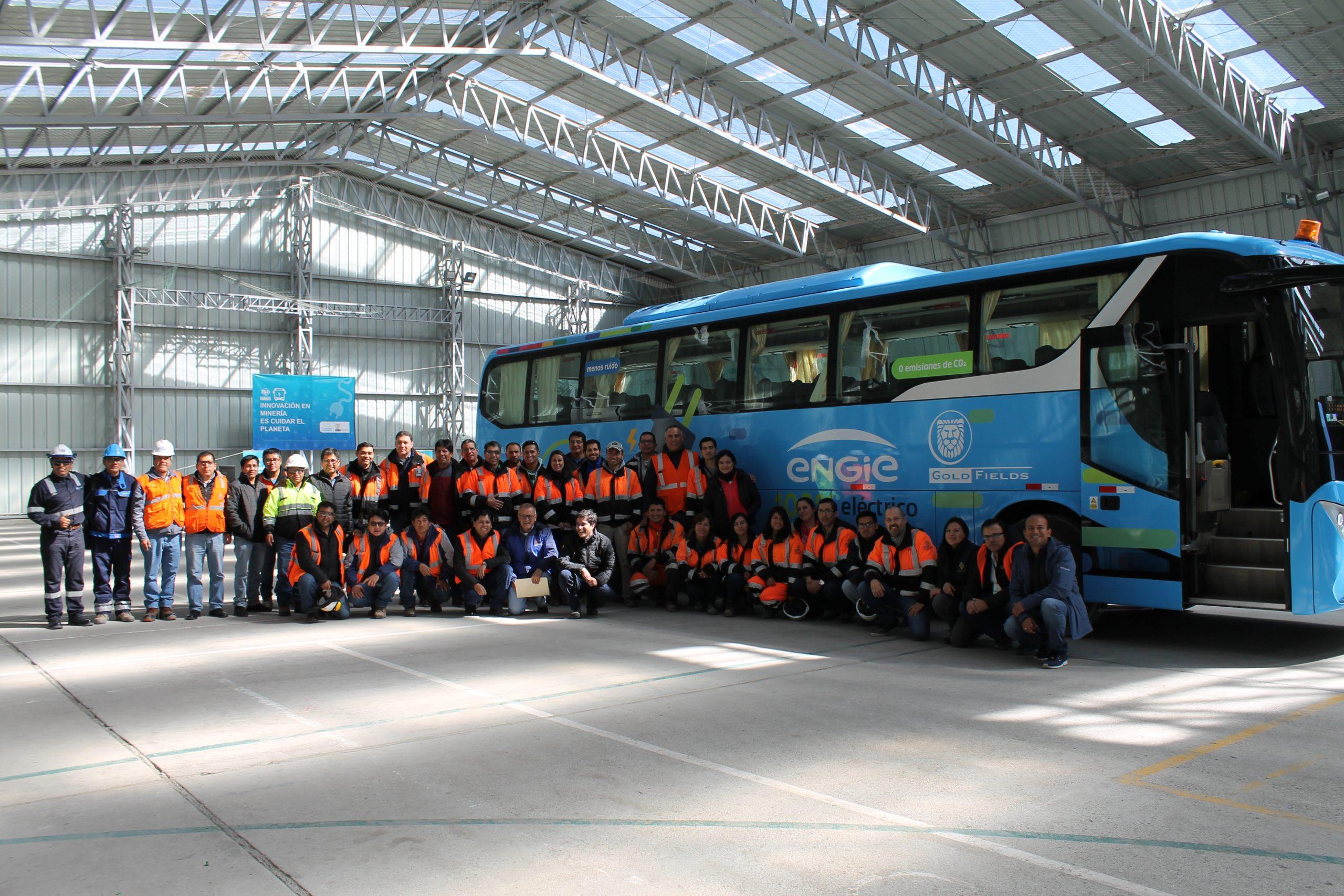 Cerro Corona inició operación del bus 100% eléctrico